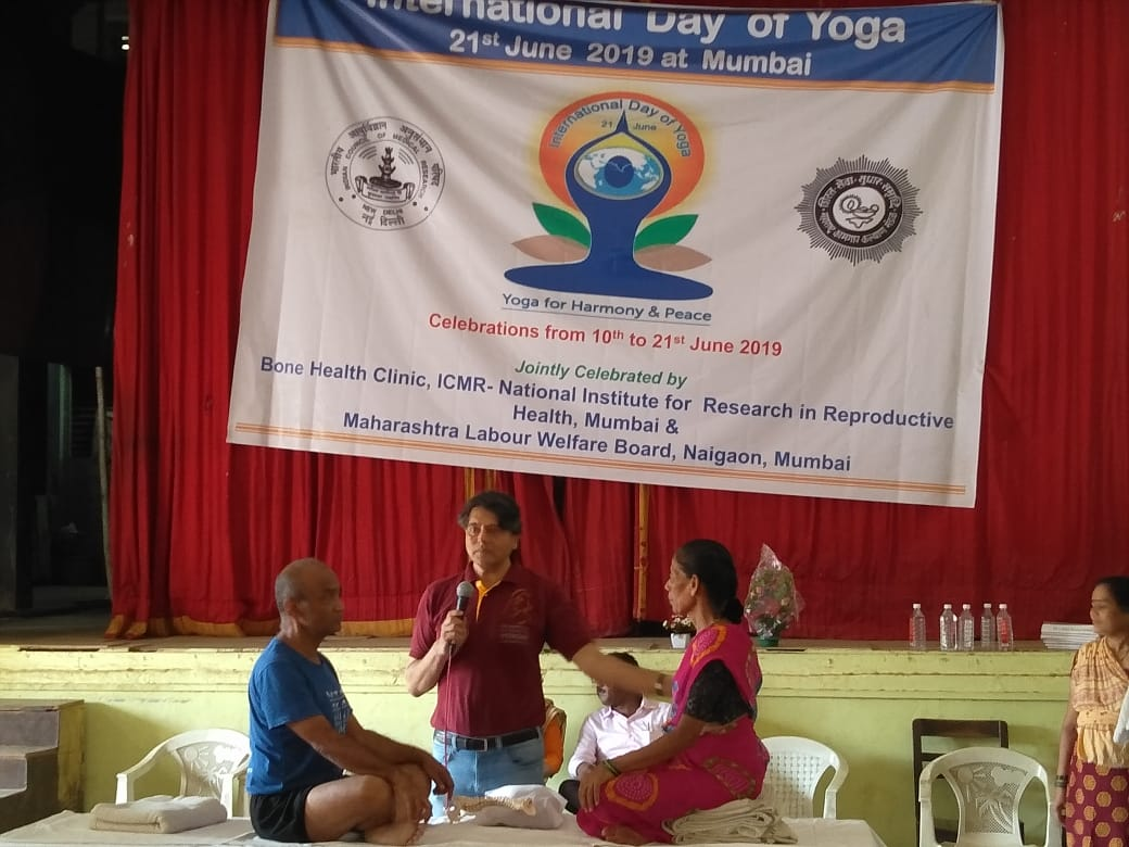 Inaugural Program of International Day of Yoga 2019 Celebrations held on June 10, 2019 at Bone Health Clinic, ICMR-NIRRH
