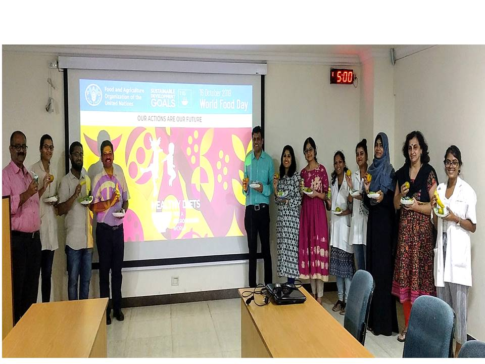 Talk on 'We are What We Eat: Nutrition, Healthy Diets and Diet Planning for Everyone', October 16, 2019